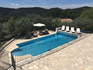 Claviers - private holiday villa with south facing pool & terraces