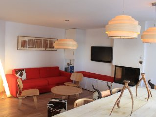 ROND POINT DES PISTES (2 min from ski lifts) Bright and quiet 80 m2