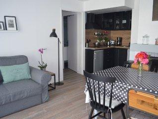 Bel appartement 3 pieces en Rez-de-Jardin, WIFI