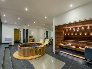 Serre-Chevalier: New luxury chalet 5 star spa area, panoramic view