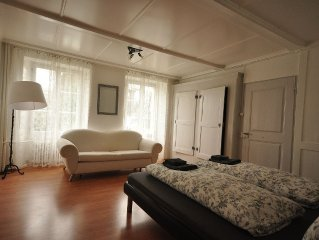 Spacious ground floor apartment.  Close to Interlaken.  Sleeps 12