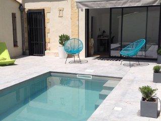 Bastide aixoise avec piscine et jardin, centre-ville (quartier des Thermes)