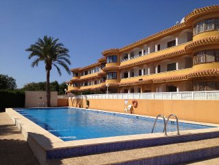 Ground Floor Apartment With Private, Enclosed Communal Pool Directly In Front