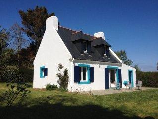 Maison avec terrasse sud et superbe vue mer, cote sauvage de Belle-Ile (3 *)
