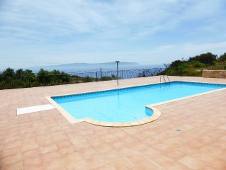 Villa within own estate. Large pool, gardens above the turtle beach of Kaminia