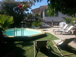 Maison au calme - jardin - piscine - proche de la mer