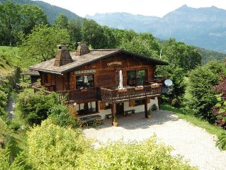 Pres des Cimes - renovated ski-in, ski-out 4 bed chalet with fabulous views