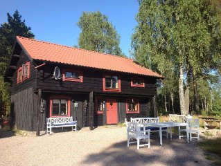 130 m2 very personally furnished log cabin