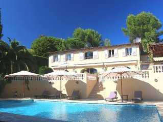 Luxury Villa with panoramic view near the medieval village of Valbonne