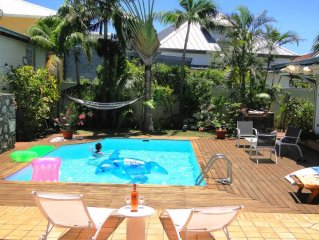 Luxury Villa - Hermitage-les-Bains - with tropical garden, swimming-pool and bu