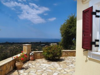 Villa with Sea View & Spectacular Sunsets in a Peaceful Location