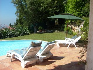Private Villa with Pool/Garden in St Jeannet near