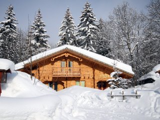 Ski chalet located 2 min walk from ski lifts in Les Gets