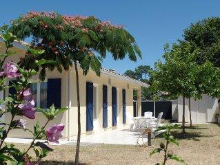 MAISON RECENTE 75 m2 BORD LAC BISCARROSSE 6 pers