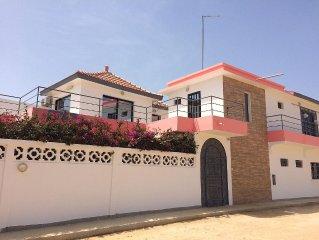 A louer Villa Ngaparou proche Saly - Sénégal piscine 1 chambre et 2 suites