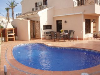Luxury furnished villa with private pool  in Quaint Spanish village