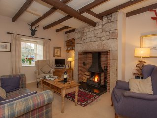 Charming Cottage in Prime Position with Castle Views, Parking, WiFi, Open Fire.