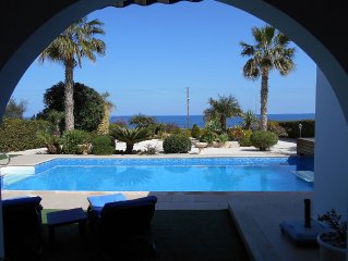 Three bedroom luxury beach villa with heated swimming pool