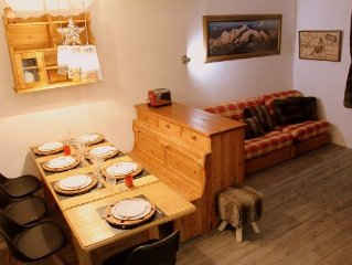 COURCHEVEL / LA TANIA: T3 + Gge RENOVATED! On the slopes, the ski area of ​​the