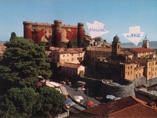 Historic apartment by Castle on Lake Bracciano, easy access to Rome