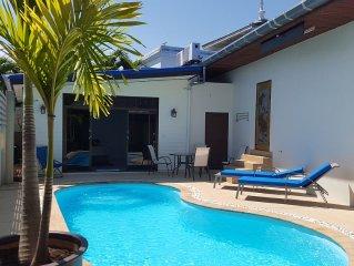 Charming studio pool private terrace sea beach go