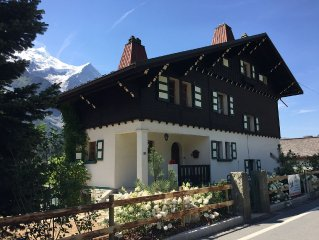 Au chalet facing the Mont Blanc in the heart of Chamonix