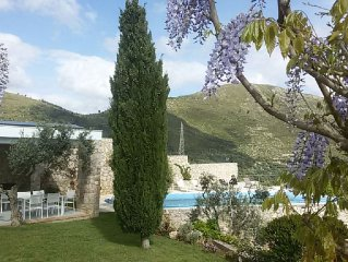 Villa With Private Pool And Sea Views, Peaceful Location,10 Minutes To The Beach