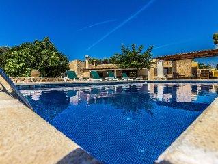Tranquilo chalet con piscina privada y Wifi para 7 personas