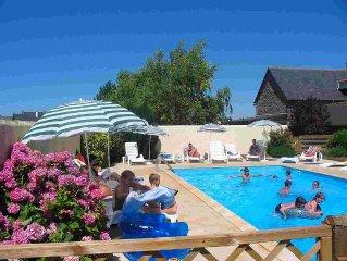 gite 2 a 4 personnes avec piscine en baie du mont saint Michel a 300m de la mer