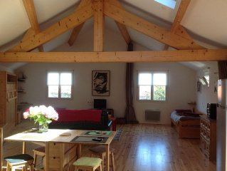 Pornic centre Loft 57m2, garage, terrasse arboree , Situation ideale !
