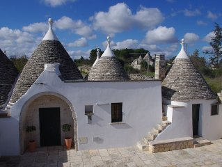 Beautiful Trulli In Puglia With Private Garden and Large Swimming Pool