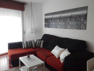 Moderno y luminoso, 2 habitaciones, todas las comodidades. Pontevedra ciudad