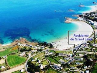 Grande vue mer à 50M de la plage de Trestel (Bretagne). 3 CLES VACANCES 2 pers.