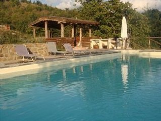 Tuscan Villa with Private Pool and stunning views sleeping up to 11 people