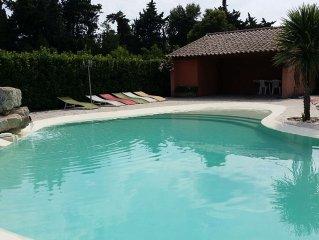 Chateaurenard: Mas Provencal restaure avec charme au calme, 1 hect arbore, pisci