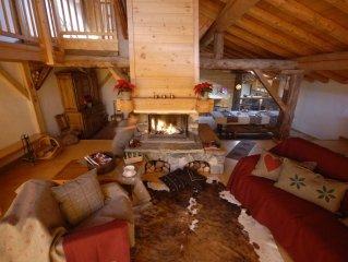 La Rosiere. Tarentaise. Savoie. Grand chalet luxueux 22 pers. Plein sud. Sauna,