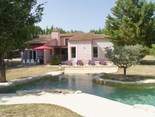 Villa; private south facing, stunning views of Luberon, private pool + air con.