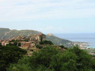 PIGNA: MAISON DE CARACTERE dans l'un des plus beaux villages de CORSE 6km d'ILE