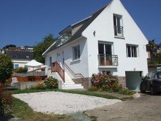 Maison individuelle, 6 pers,  avec jardin clos et vue sur mer