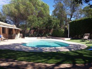 Maison entierement privative avec piscine et terrain de petanque  sur la cote D'