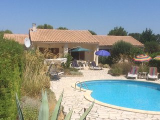 Villa With Private Pool And Secluded, South Facing, Mediterranean Garden