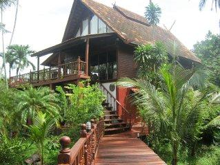 4 Bedroom Beach Side Thai Style Wooden Villa