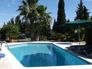 Sant Antoni De Portmany: Holiday house with a stone tower, pool, barbacue, and