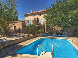 Traditional Stone Farmhouse, Private Pool, nr Beach, Carcassonne & Canal du Midi