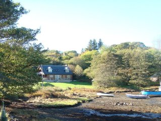 A House on the shore of Isleornsay Bay with Spectacular Mountain and Sea Views
