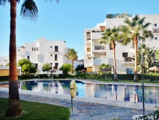 Superb Apartment With Sea Views- Pool- WIFI and UK TV- Walk To Beach/ Shops/ Bar