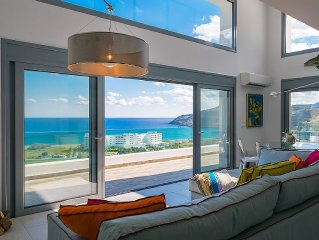 Exceptional 4 Bed  5 bath  Sea view villa, minutes from Lindos.