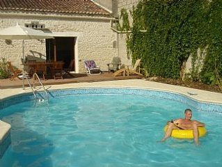 Typical French Town House, with Heated Pool, large Games Room and Free Bicycles