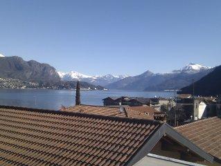Water Mountains Scenic Views On Como Lake near Bellagio