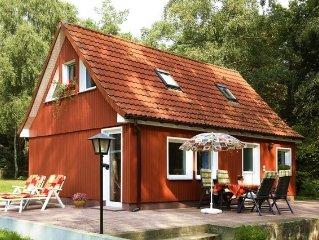 Cottage on coastal forest